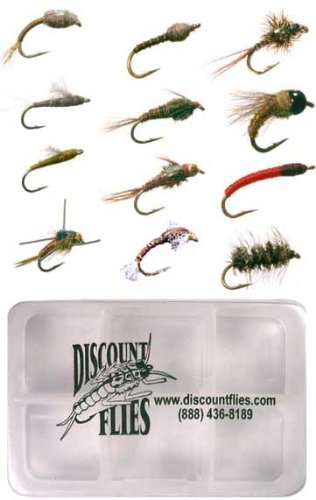 Midge Fly Collection – 12 Trout Flies Fly Box