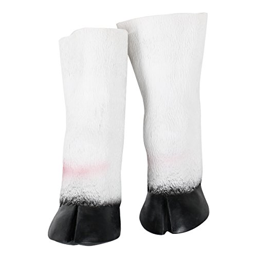 Latex Unicorn Horse Hooves Gloves Halloween Party Costume Props Fits most adult hands]()