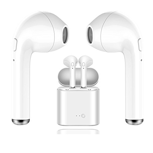 Bluetooth Headset Wireless Headphone Sport, Richer Bass HiFi Stereo In-ear Headphones Noise Cancelling Headphones for Apple iPhone, Android, Samsung by baiyi
