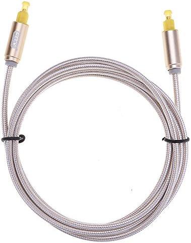 外径PVC4.0mm 光デジタルオーディオケーブル 光ファイバの組み紐アルミニウムシェルゴールド ケーブル長さは3m