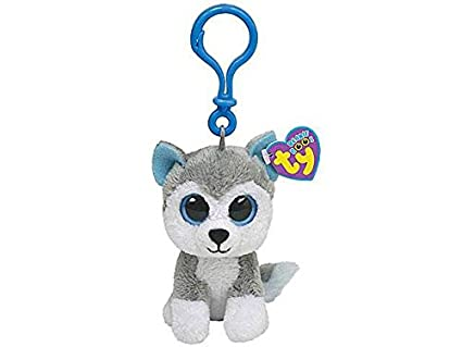 Llavero Ty Beanie Boos Clips Slush Husky Peluche juegos juguete idea regalo # AG17