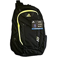 ADIDAS ARIES Backpack Blk/Yellow Climacool Tech Friendly Laptop Storage 15.4 XL