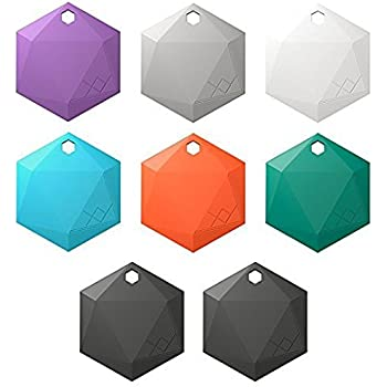 XY3.1 Item Finder by XY Findables | Find Your Lost Keys, Wallet, Phone, Etc | Low Energy 4.0 Bluetooth Tracker | Sleek Hex Design | QTY 8