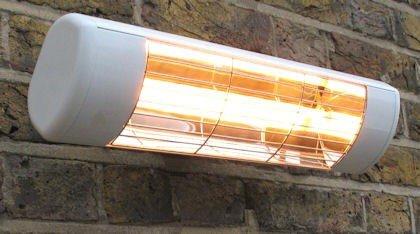 Heatlight heizstrahler bianco con tecnologia a infrarossi per esterni 1500 W