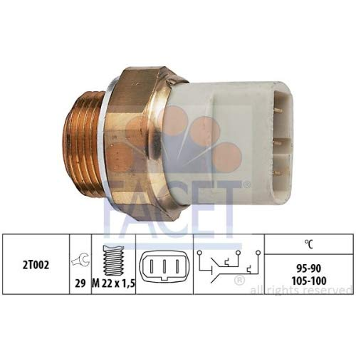 Facet 7.5697 Temperature Switch, radiator fan: