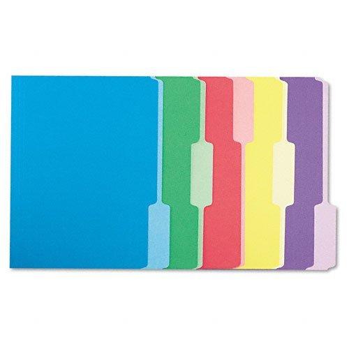 Single 1/3 Cut - Universal 10506 File Folders, 1/3 Cut Single-Ply Top Tab, Letter, Assorted, 100/Box