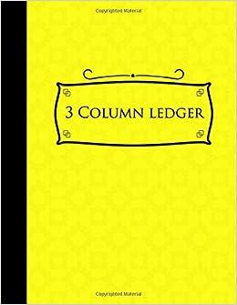 amazon com 3 column ledger accounting paper accounting ledger