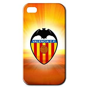 Custom Design FC Valencia CF FC Team Logo Phone Case Cover For Iphone 4 3D Plastic Phone Case