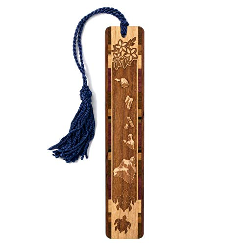 (Hawaiian Islands - Laser Engraved Wooden Bookmark with Tassel - Search B07JR91TC8 to See Personalized)