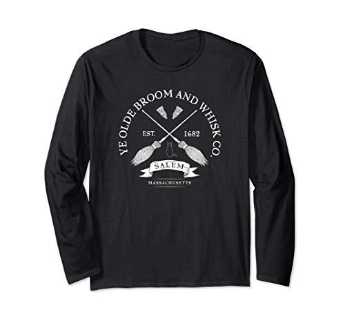 Ye Olde Salem Broom Co Mass 1682 Halloween Long Sleeve Shirt -