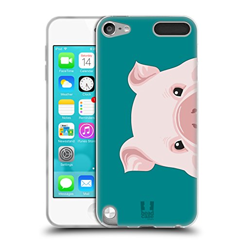 Head Case Designs Pig Peeking Animals Soft Gel Case for Apple iPod Touch 5G 5th Gen (Pig Ipod Touch 5 Case)