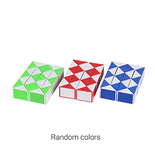 24 Wedges Magic Ruler Mini Magic Twist Puzzle Cube Game Twisty Toy Educational Cube Toy Gift for Children Adult
