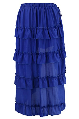 Bleu Steampunk Cyberpunk High Women's Skirt Gothic Low Charmian wOPHzqn6