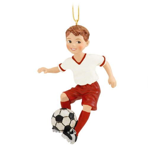 Boy Soccer Sports Player Christmas Tree Ornament