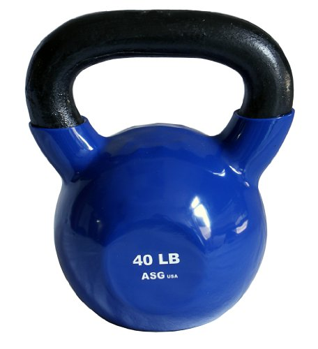 Ader Vinyl Coated Kettlebell (40 Lb Blue) (40 Lb Kettle Ball compare prices)