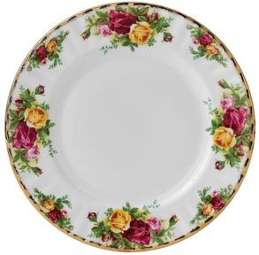 Set of 4 Royal Albert Old Country Roses Dessert//Salad Plates 8 1//4