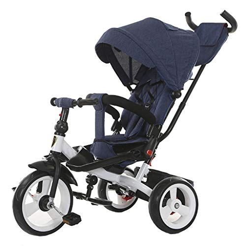 $281.06 Target Infant Car Seats Baby Umbrella Stroller Jogger Style, 3-Wheeler, Pushchair with Extra Wheels, Foldable Buggy, Height Adjustable Push Handle, for Children from Birth to 25 Kg, Lying Position, Blue 2019