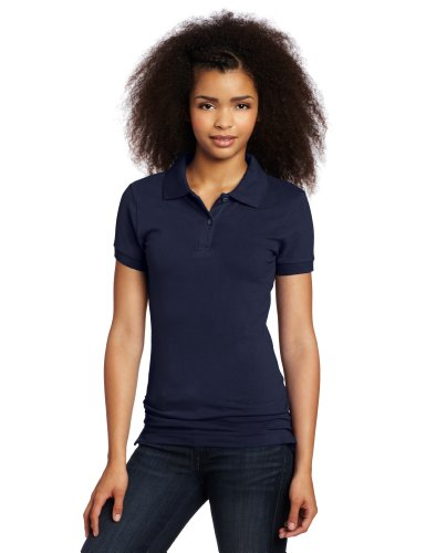 Lee Uniforms Juniors Stretch Pique Polo, Navy, Small