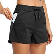 Willit Women's Yoga Lounge Shorts Hiking Active Running Workout Shorts Comfy Travel Casual Shorts with Poc
