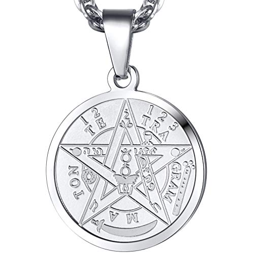 PROSTEEL Tetragrammaton Pentacle Necklace Eliphas...