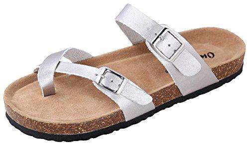 Toe Bork Leather 30 Slide Vegan Women's Outwoods Sandals On Silver Loop P1BqxZ1O