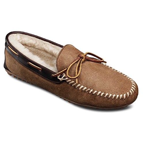 Allen Edmonds Mens Sandman Shearling Tofflor Loafers, Naturlig 8,5 E