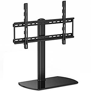 FITUEYES Universal TV Stand Mount for 32 to 65 inch LED LCD Flat/Curved Screen, Height Adjustable TT107001GB