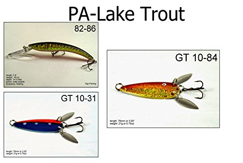 Akuna LT3A Lake Trout Fishing Lure for USA 50 States (Pack of 3), Pennsylvania (Best Trout Fishing In Pa)