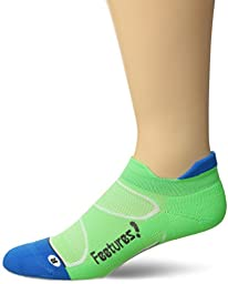 Feetures Elite Light Cushion No Show Tab,Volt/Carbon,Medium (US Mens 6-8.5/US Womens 7-9.5)