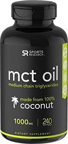 (Keto MCT Oil Capsules - 2 Month Supply | Keto Fuel for The Brain & Body | Derived from Non-GMO Coconuts (240 Softgels))