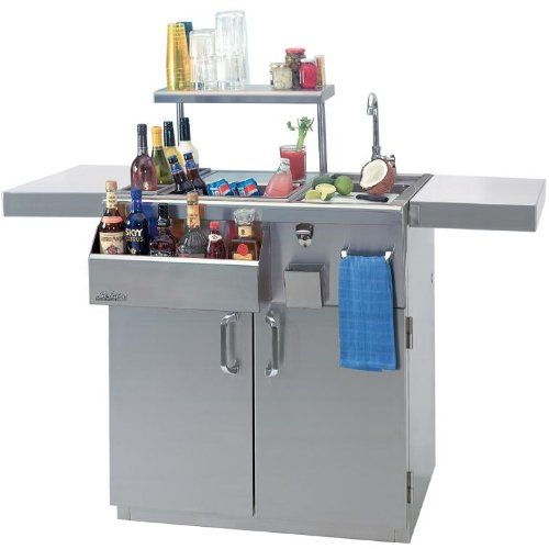 Solaire 30 Inch Professional Bartender Center On Cart