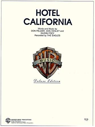 Eagles: Hotel California. Partituras para Piano, Voz y Guitarra ...