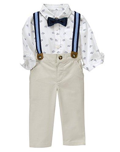 Shirt Khaki Pants (Gymboree Baby Boys Turtle Print Suspender Set, Multi, 12-18 Months)