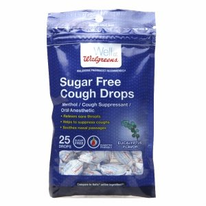 (Walgreens Sugar Free Cough Drops, Menthol, 25 ea)