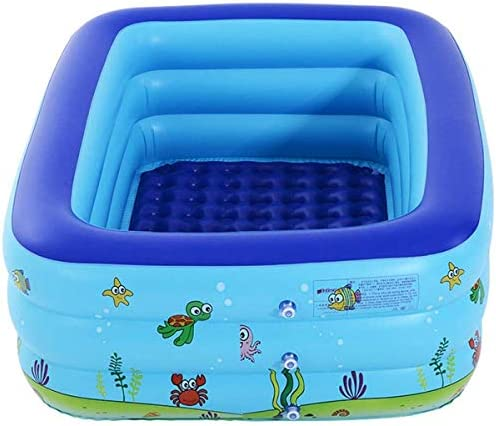 子供大人インフレータブルバスプール、プールベビーパドリングプール、屋外屋内ガーデン用、ブルーポータブル