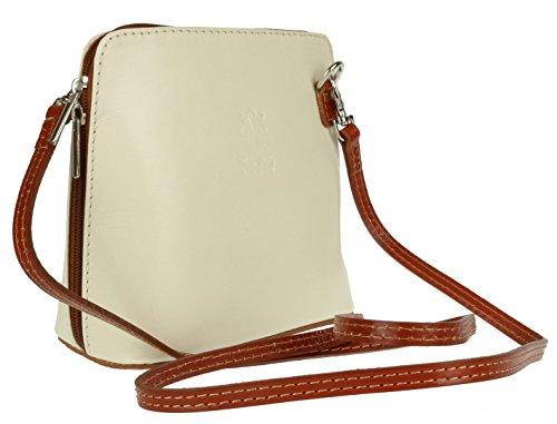 para Bolso cruzados Girly mujer de Piel Tan Handbags Cream T4aXaq
