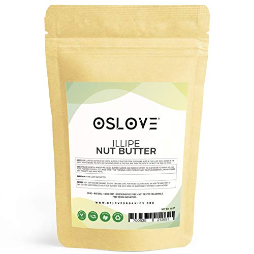Illipe Nut Butter 1LB - 100% Pure & Natural by Oslove Organics- Great for DIY body butters, deodorant sticks, soaps and ()