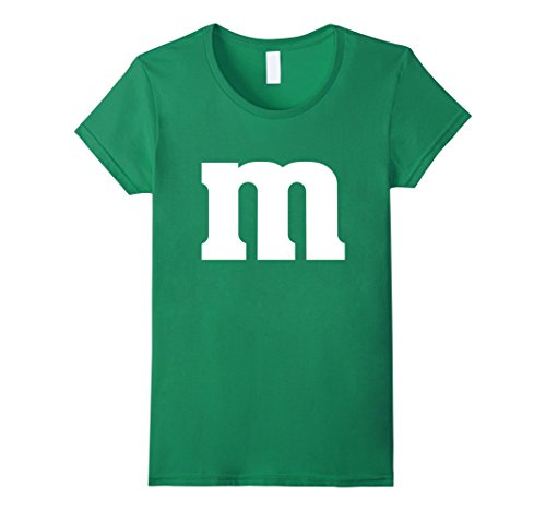 Womens M Candy Easy Halloween Costume DIY Funny Clever Idea T-Shirt Medium Kelly Green