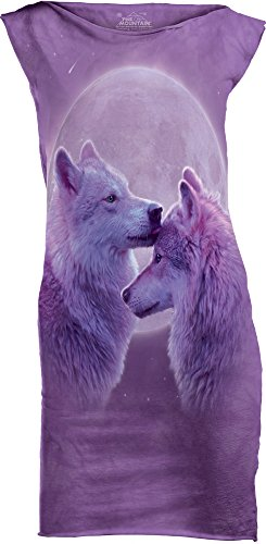 The Mountain Junior's Loving Wolves USA Mini Dress, Purple, Medium
