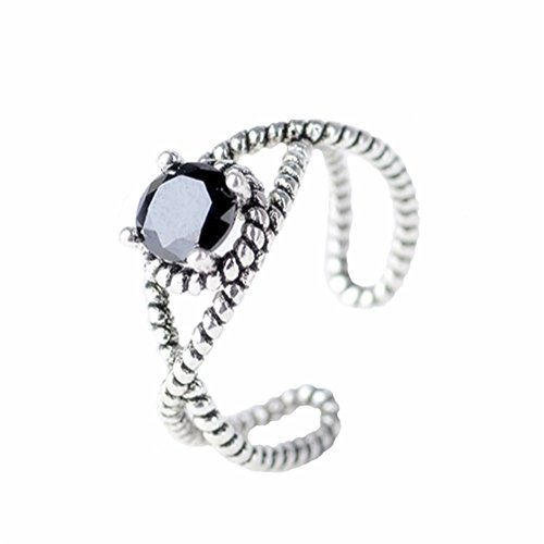 LAMEIDA Vintage Retro Swirl Ring Stylish Open Ring Adjustable Wedding Engagement Jewelry Accessories Gift for Women Girls ()