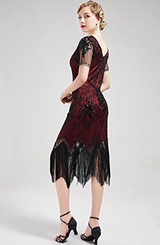 lgante Perle Robe Robe Party Soire Flapper Dco 1920 ArtiDeco Noir Robe Gatsby Soire Robe Rouge 1920s Robe Femme Fte Paillette Vintage Bal Longue Art Longue Iv6nP4