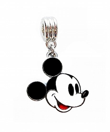 - MICKEY MOUSE CHARM SLIDER PENDANT FOR YOUR NECKLACE EUROPEAN CHARM BRACELET (Fits Most Name Brands) DIY