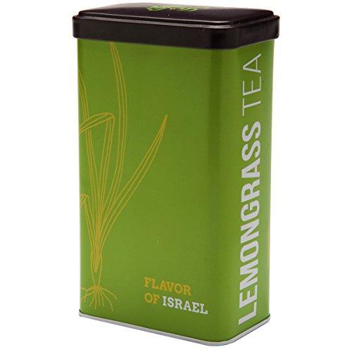 Yoffi Lemon Grass Tea All Natural and Organic Caffeine Free Loose-Leaf Tea Kosher Herbal Tea from the Holy Land Deluxe Present Tea Box (1.2 Oz)