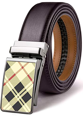 Mens Belt,Bulliant Leather Click Ratchet Belt For Mens Dress Casual Golf Belt,Size-Customized