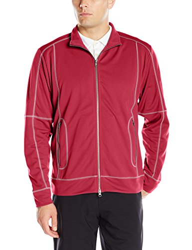 Red Full Zip Performance Jacket - 6