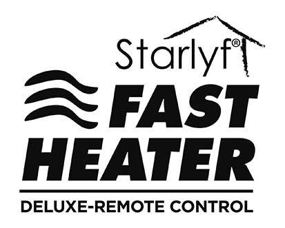 Color Blanco Port/átil y Compacto con Termostato Ajustable y Mando a Distancia Starlyf Direct TV Outlet Fast Heater Deluxe Visto en TV Calefactor con Control Remoto 400W Calentador El/éctrico