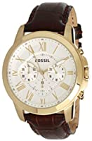 Fossil FS4767 Grant Brown Leather Strap Watch by FOSSIL