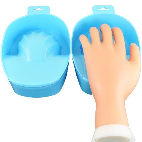 Beauties Factory 2x Blue Nail Art Soak Bowl - Hand Soak Bowl