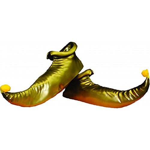 Alexanders Costumes Elf Shoes, Gold, One Size ()