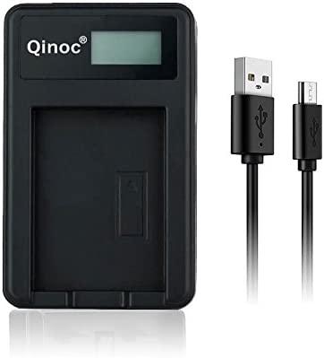 powervolt – Cargador USB de batería para cámara para Panasonic Cámaras Digitales – Smart pantalla LCD para precisa Estado de la carga de la batería – ...